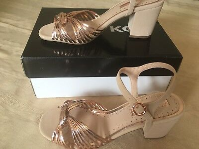 Miss KG Summer Sandals.  Rose Gold & Nude.  Size 3. Brand New In Box