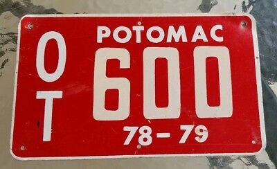 Potomac Oyster Tag License Plate Boat Plate River Ocean