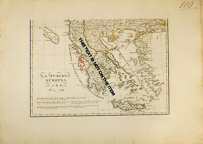 Sverige - Map Of Sweden By A.b. Borghi - Engraved In Florence (Firenze) - 1816