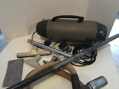 Vintage Hamilton Beach Canister Vacuum Cleaner & Attachments Works Model 26