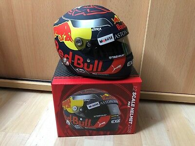 Max Verstappen Red Bull 2018 F1 Formel 1 Helm Helmet Casque 1:2 ***RAR & LTD.***