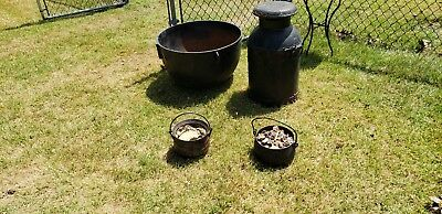 Large antique cast iron cauldron, all 4 pieces local pickup!