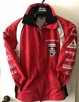 Rare Honda Racing Red Bull Jacket Mens Medium Red Black Double Zippers by FOX