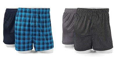 "2 Pack Croft & Barrow Microfiber Knit Boxers ~ Size XL (waist 40-42"") ~ NWT"