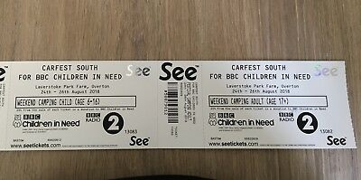 Weekend Carfest South Tickets X1 ADULT X1 CHILD