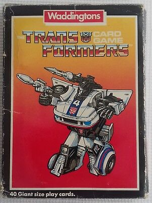 Waddingtons G1 Transformers Card Game Complete