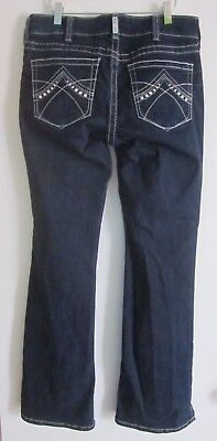 Ariat Real Denim Womens Dark Blue Wash Spitfire Bootcut Riding Jeans Size 31R