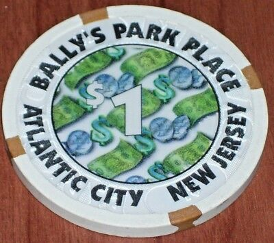 $1 3rd EDT GAMING CHIP BALLY'S PARK PLACE CASINO ATLANTIC CTY