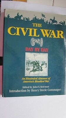 The Civil War Day by Day Illustrated Almanac Color & B&W Bowman HCDJ 200+ EXCEL