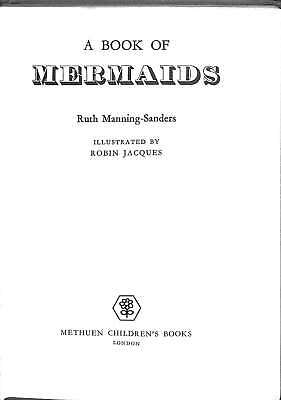 A Book of Mermaids, MANNING-SANDERS, Ruth, Good Condition Book, ISBN