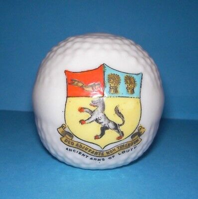 Crested China  Golf Ball  Ancient Arms of Louth Crest