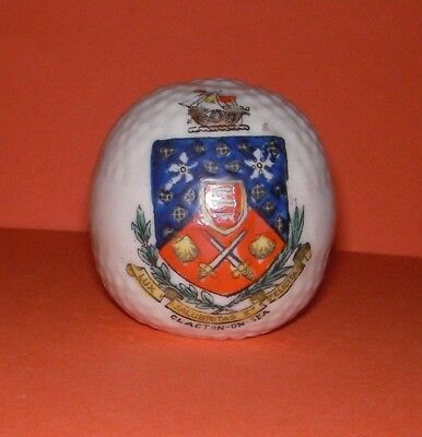 Crested China  Golf Ball  Clacton on Sea Crest