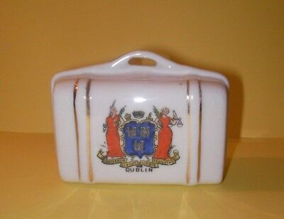 British Made Crested China  Suitcase  Dublin Crest