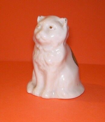 Willow Art Crested China Sitting Cat Ongar Crest