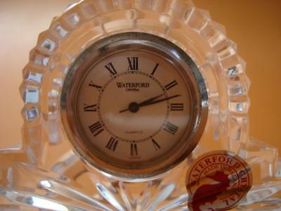 4 Waterford Crystal Cut Glass Small Desk Clock An Movement