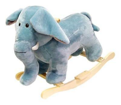 Plush Rocking Elephant w Wooden Rockers & Handles [ID 20059]