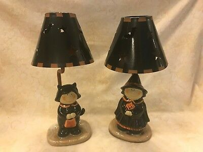 Yankee Candle Halloween Witch & Trick or Treater Lamps for Tea Lights