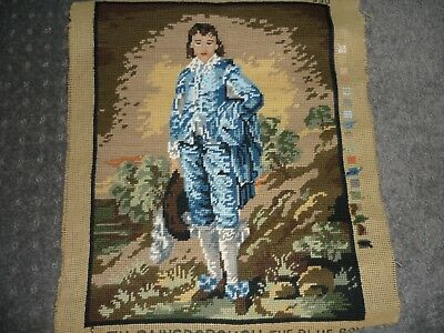 """Completed - The Gainsborough - """"the Blue Boy"""" - Tapestry Canvas"""
