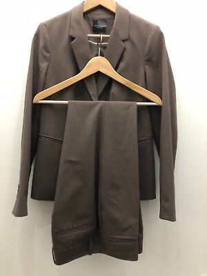 The Limited Collection Womens Size 10P/6 Pant Suit Brown Tan Lined 2 Button