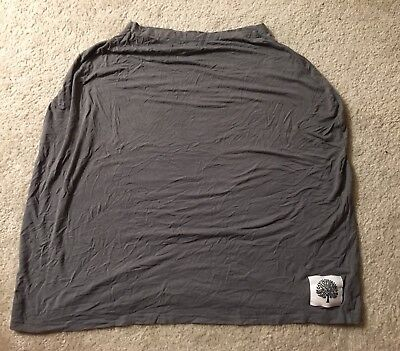 3 In 1 Breastfeeding/ Nursing Cover, Baby Car Seat Cover,Grocery Cart Cover-Gray