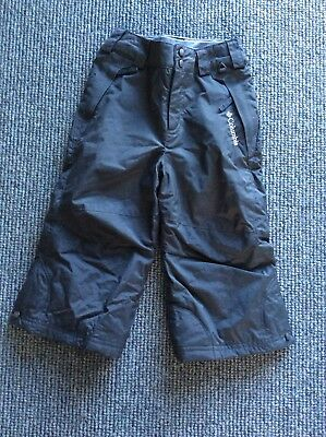 Columbia Childs Snow Ski Pants - Kids Black Unisex Size 3 as new condition