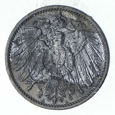 Roughly Size of Quarter 1898 Germany 1 Mark - World Silver Coin 5.5 Grams! *180