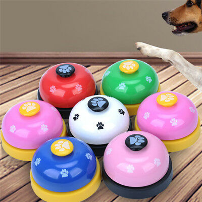 1Pcs Pet Dog Cat Button Click Clicker Trainer Training Obedience Aid Meal Bells