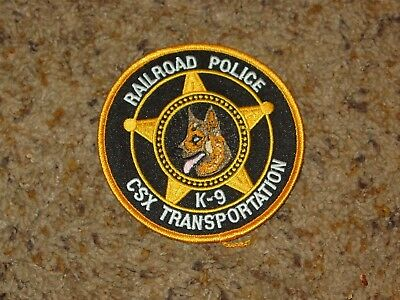 New Old Stock Original Vintage Csx Railroad K-9 Police Patch