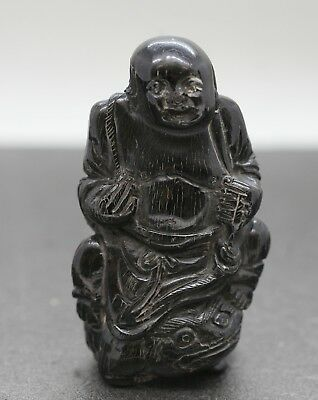 Exquisite Antique Chinese Agalmatolite Gem Quality Stone figural  Carving c1890s