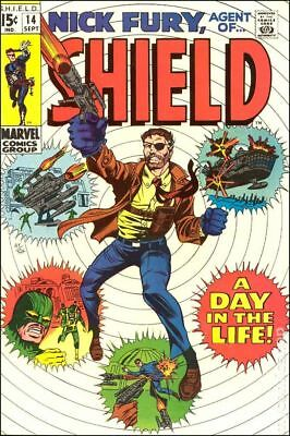 Nick Fury Agent of SHIELD (1st Series) #14 1969 VG- 3.5 Stock Image Low Grade