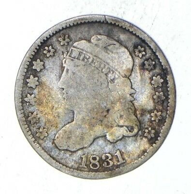 Rare - 1831 Capped Bust Half Dime - Tough to Find - US Early Silver Coin *364