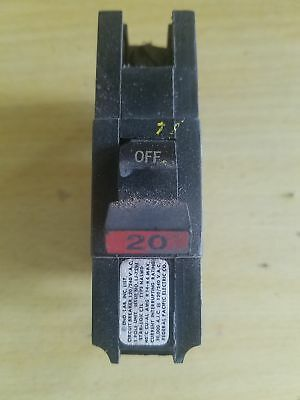 """FPE Federal Pacific Single Pole 20 Amp Used Circuit Breaker NA """" Thick """" Type St"""