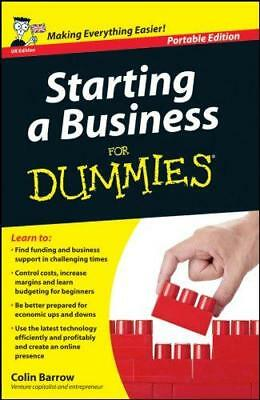 Starting a Business for Dummies: Uk Edition, Barrow, Colin, Good Condition Book,