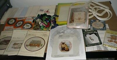 Assortment Of Cross Stitch Items