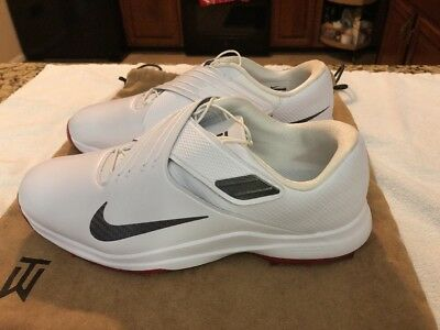 low priced 57e22 210dd Nike TW 17 Tiger Woods Golf Shoes White   Red  200 881774-100 Mens 11.5