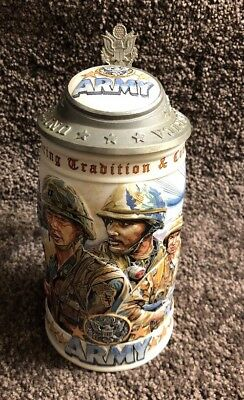Budweiser Military Beer Stein Honoring Tradition & Courage Series US Army Stein
