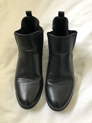 Betts Kids Black Leather Boots UK 3.5