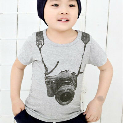 T-shirt Baby Infant Summer Sleeve Cotton Boy Kids Newborn Tops Toddler Children
