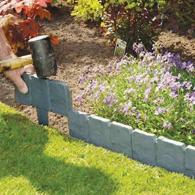 1510pcs plastic cobbled stone effect garden edging plant lawn palisade 25 - Plastic Garden Edging