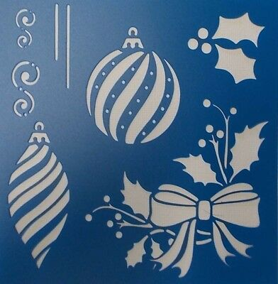 Scrapbooking - STENCILS TEMPLATES MASKS SHEET - Christmas Bits and Pieces