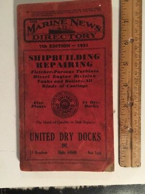 Book 1931 The Marine News Directory 7th Edition 1931 The New York Marine News Co