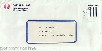 L1853cgt Australia V Seymour postmark on cover