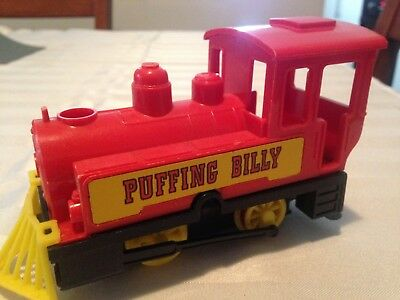 vintage 1970's PUFFING BILLY wind up plastic toy train toy
