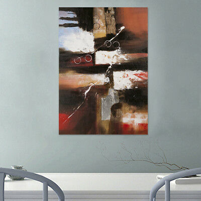 Abstract Art Hand-painted Canvas Oil Painting Modern Home Decor (With Frame)