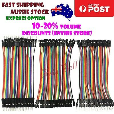 Dupont Jumper Cable Set 10cm Male Female M-F M-M F-F Wire Breadboard Cables