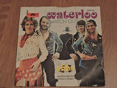 ABBA Waterloo (Austria Pressung) Björn Benny Frida Agnetha 1974 7-inch Single