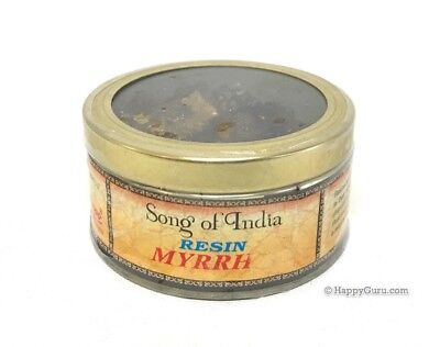 """Myrrh"" Natural Incense Resin 60grams in Tin (Song Of India Brand)"