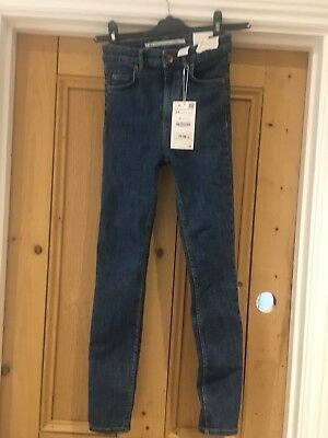 Zara Jeans Jeggings High Waist 34 Size 6 mid blue