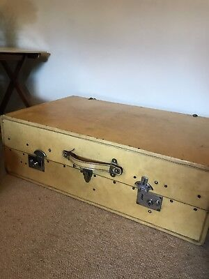 A C19th Vintage Retro Steamer Trunk Wardrobe with Fitted Interior Quality
