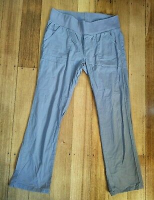 Oh! Mamma Maternity Pants - Size L 14 - Grey Cargo Style + Soft Stretch Waist